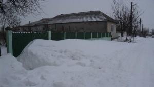 Zapada de peste un metru la Sarichioi